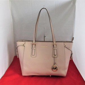 Michael Kors Voyager MD Crossgrain Leather Tote